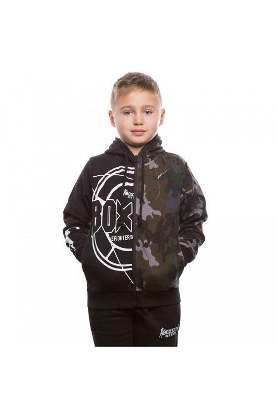 Худі дитяча чорний камуфляж