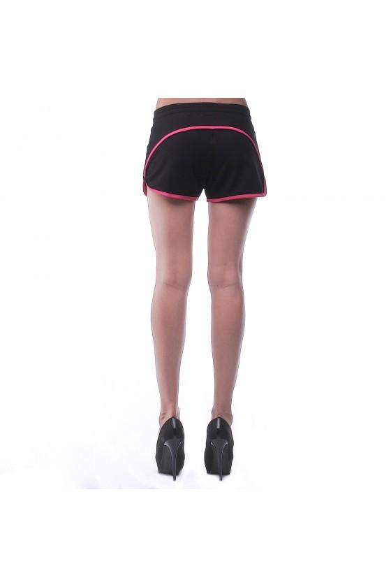 Жіночі шорти чорні з рожевим окантовкою