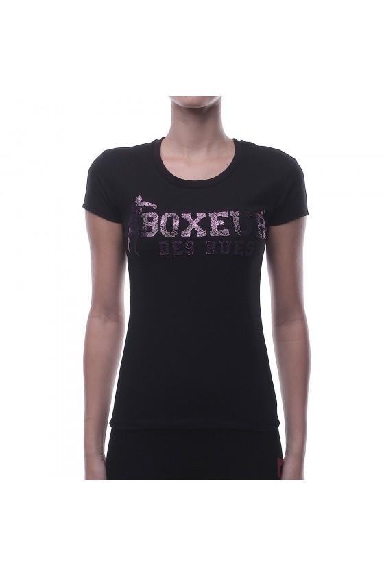 Женскиая футболка черная с...