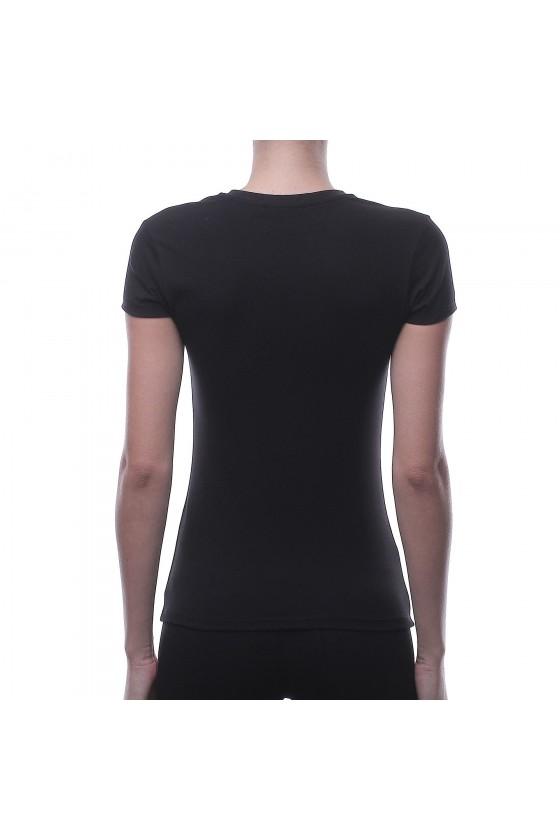 Жіноча футболка чорна з логотипом caviar