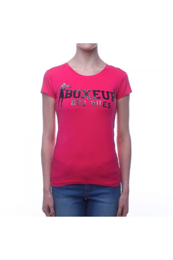 Женскиая футболка фуксия с...