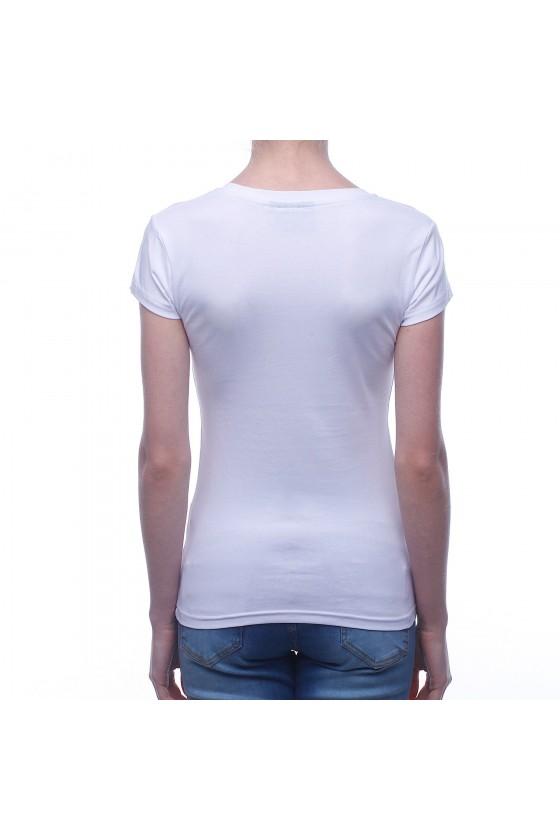 Жіноча футболка біла з логотипом caviar