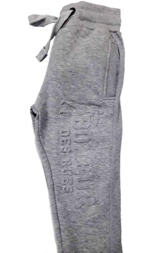 Детские штаны с 3D принтом серые