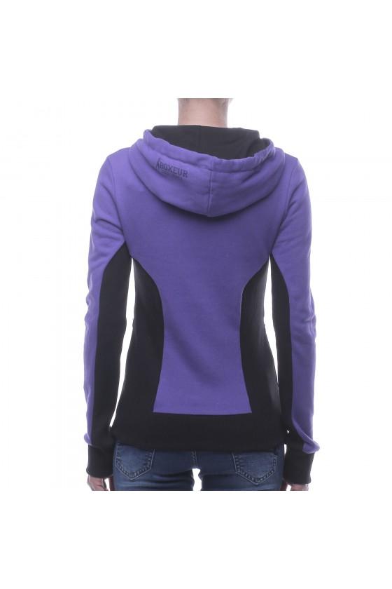 Женская худи с большим логотипом спереди фиолетовая