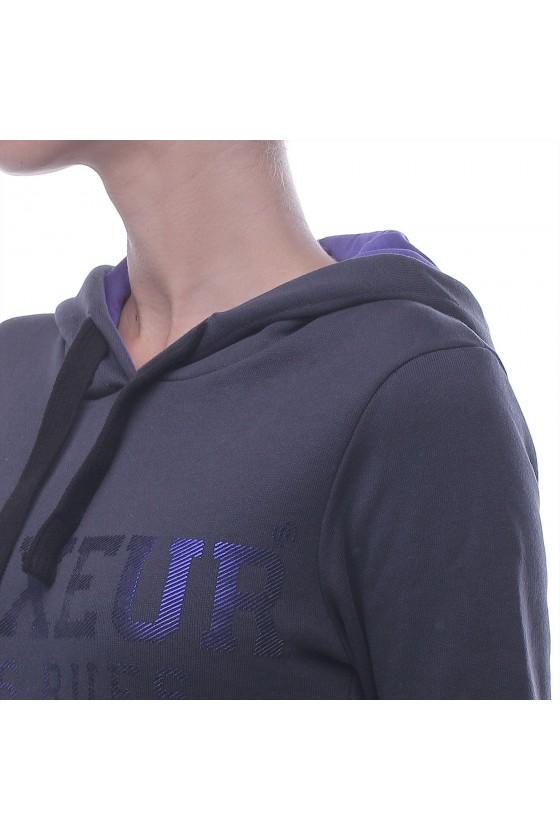 Жіноча худі з кишенею спереду антрацит