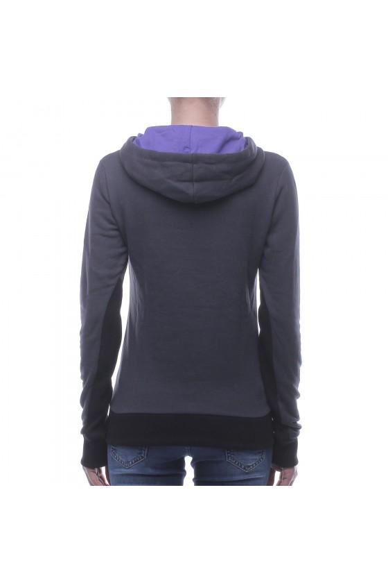 Женская худи с карманом спереди антрацит