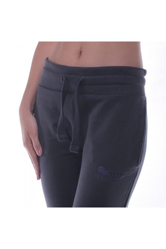 Женские спортивные штаны basic с маленьким логотипом серый антрацит