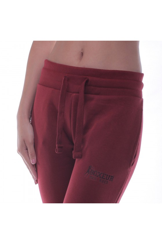Жіночі спортивні штани basic з маленьким логотипом бургунди