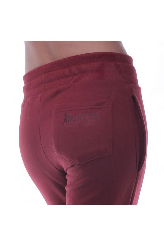 Женские спортивные штаны basic с маленьким логотипом бургунди