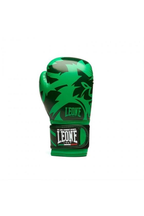 Детские боксерские перчатки Leone Mascot зеленые