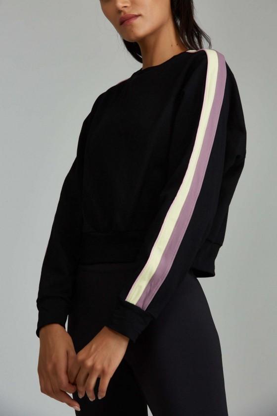 Жіноча коротка спортивна кофта Chase Black / Mauve
