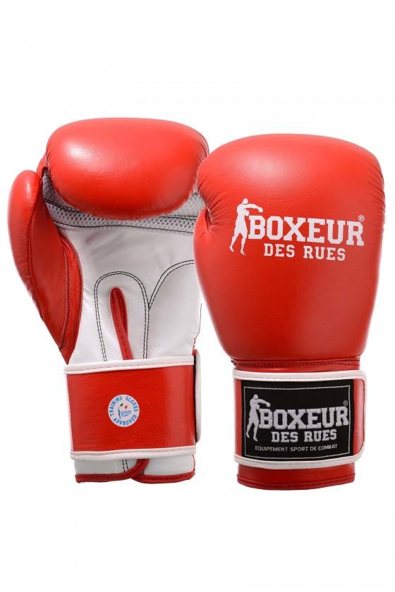 Боксерские перчатки красные