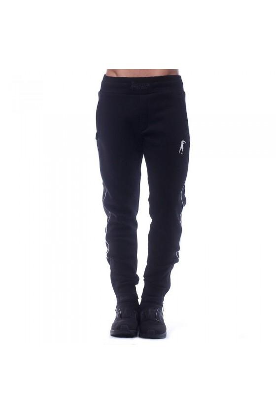 Спортивні штани з камуфляжним вставками чорні