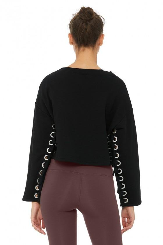 Жіночий пуловер suspension чорний