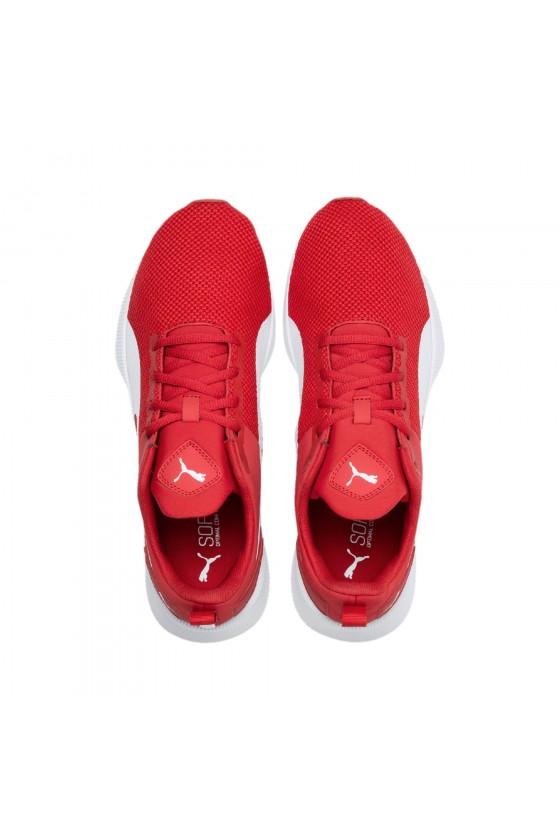 Чоловічі кросівки puma FLYER RUNNER червоні з білим