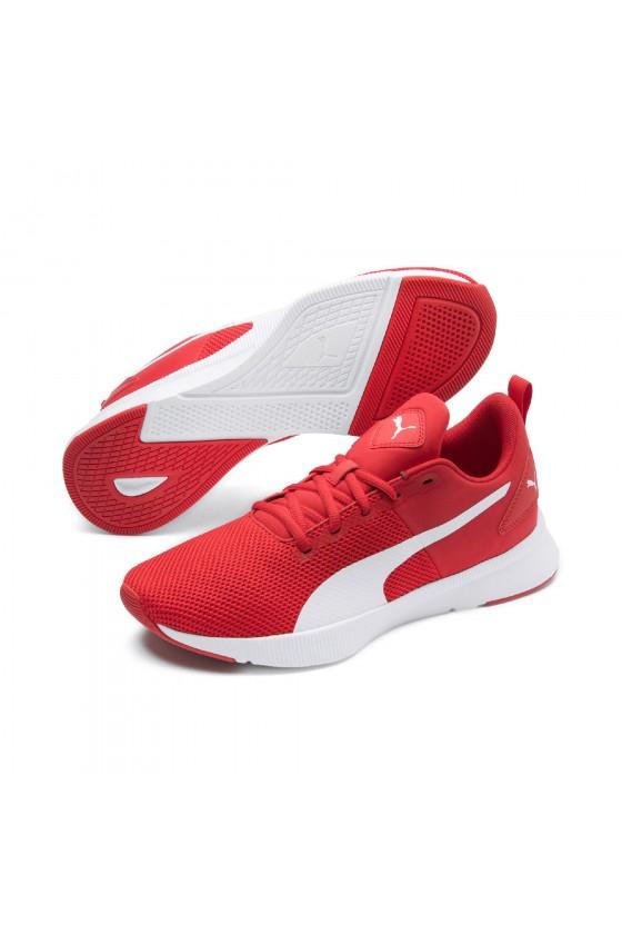 Мужские кроссовки puma FLYER RUNNER красные с белым