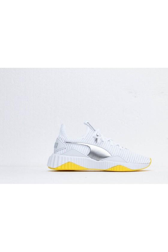 Жіночі кросівки puma DEFY TZ WN'S білі з жовтим