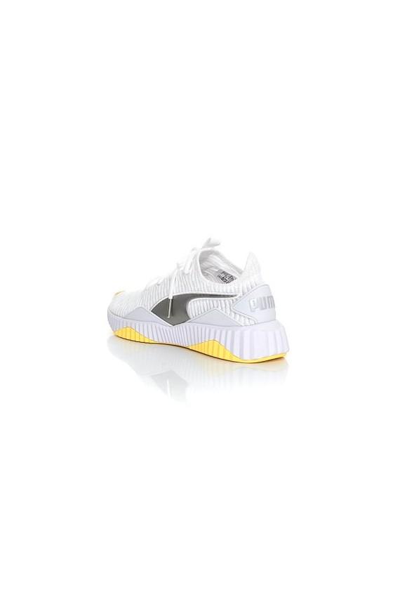 Женские кроссовки puma DEFY TZ WN'S белые с желтым