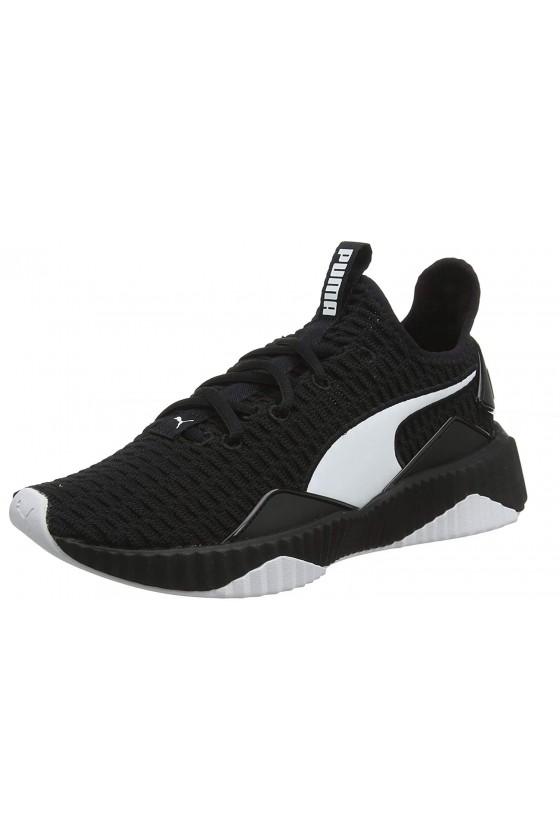 Женские кроссовки puma DEFY WN'S черные с белым логотипом