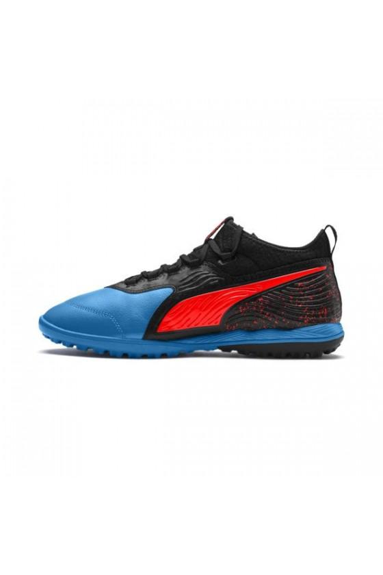 Кроссовки детские PUMA ONE 19.4 TT JR черные с синим