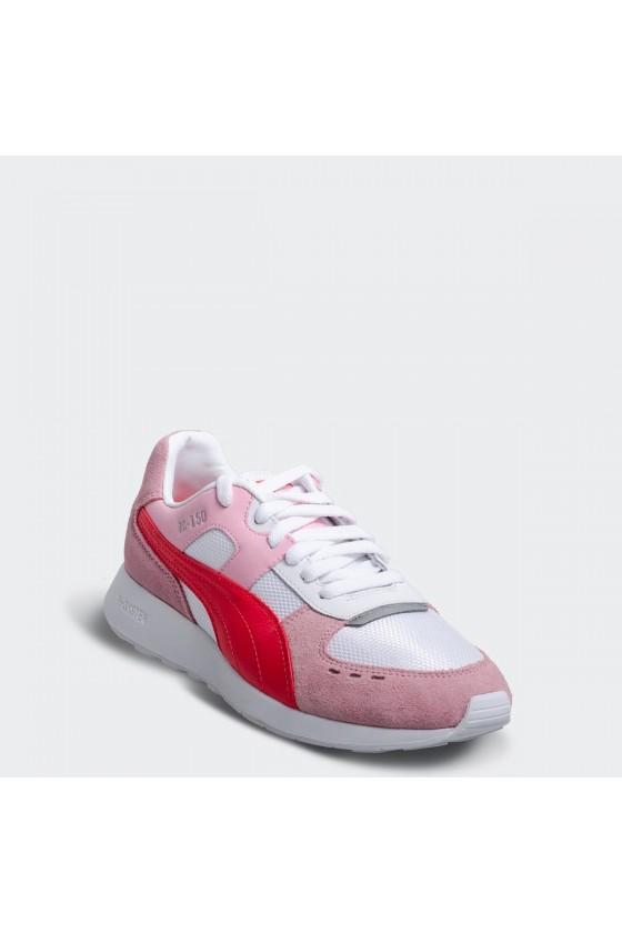 Женские кроссовки puma  RS-150 MESH WN'S розовые с красными вставками