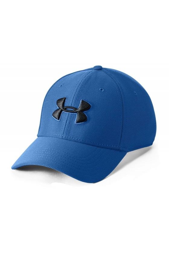 Бейсболка яскраво-синя з чорним логотипом
