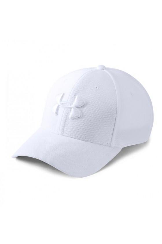 Бейсболка белая с белым логотипом
