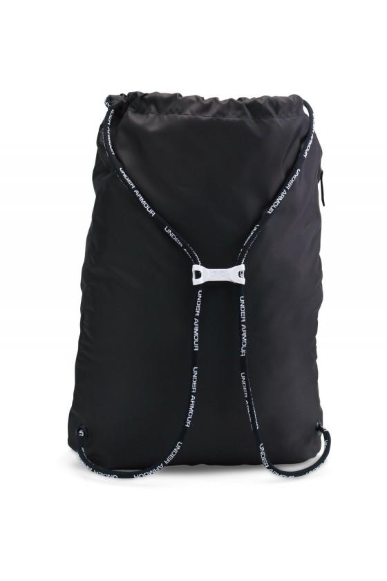 Спортивная сумка- мешок черная с карманом