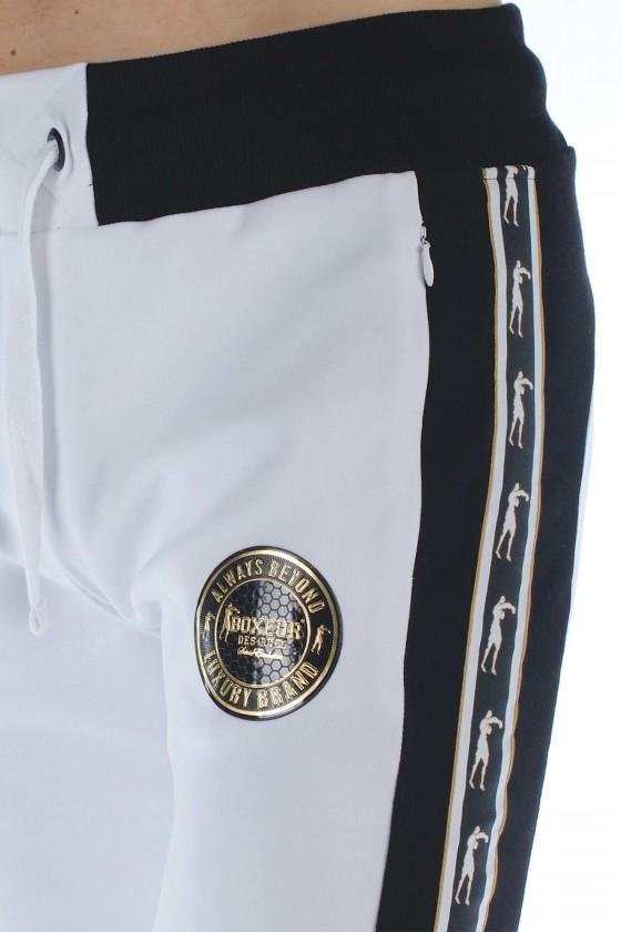 Спортивные штаны с полосками по бокам белые