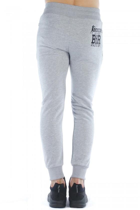 Спортивні штани з принтом 3 d сірі