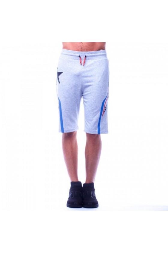 Спортивные шорты с принтом 3 d серые