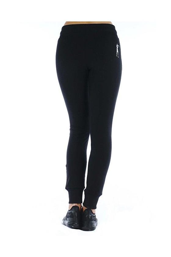 Жіночі спортивні штани з голографічним принтом чорні