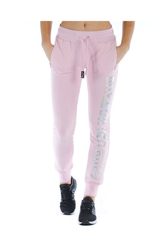 Жіночі спортивні штани з голографічним принтом рожеві
