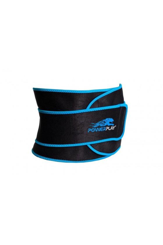 Пояс для похудения PowerPlay Черно-синий