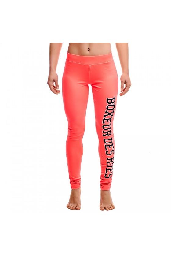 Жіночі легінси з логотипом на нозі basic яскраво-червоні