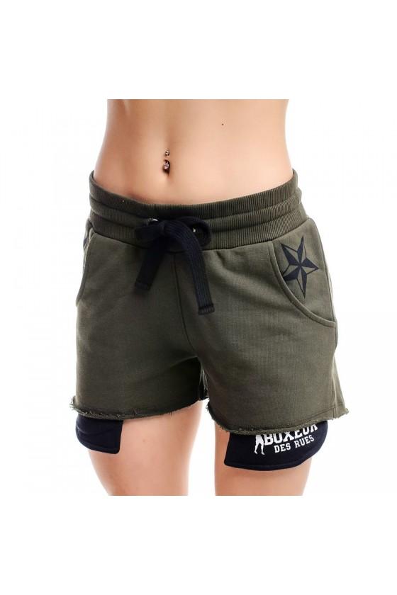 Женские шорты с милитари...