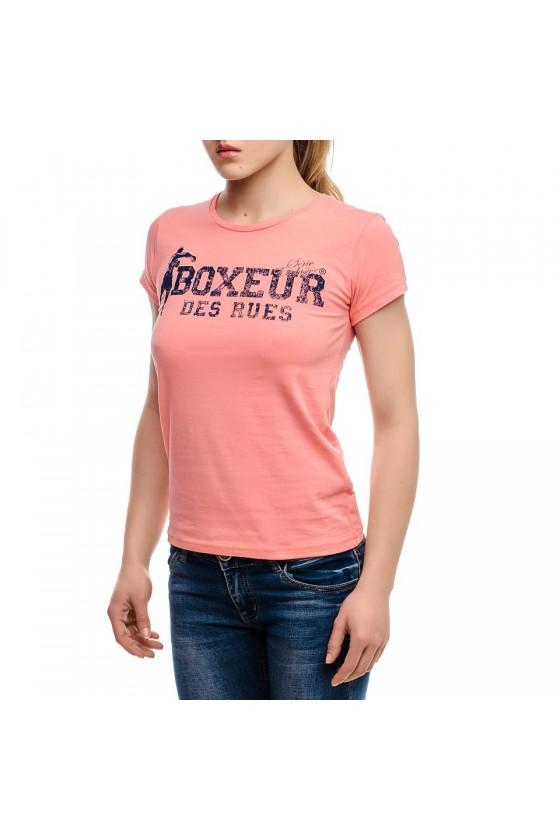 Женская футболка с круглым...