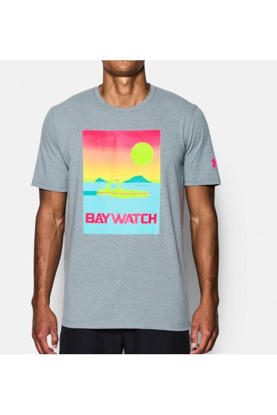 Футболка Baywatch Speedboat светло-серая/розовая