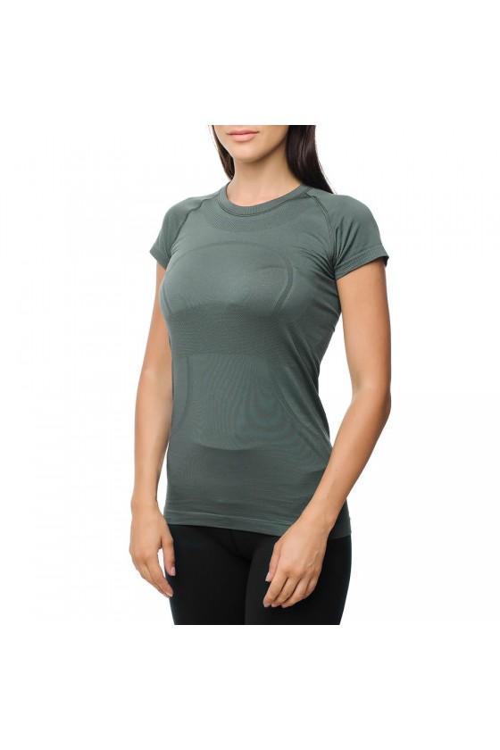 Женская футболка зеленая