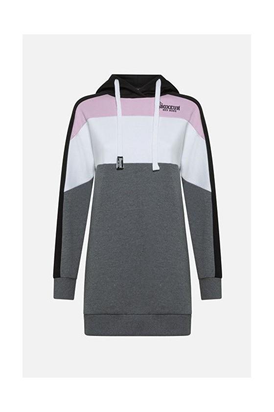 Женское спортивное платье с капюшоном anthracite mel