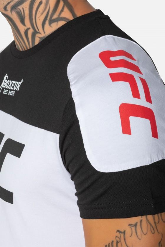 Футболка UFC с накладками на плечах черная