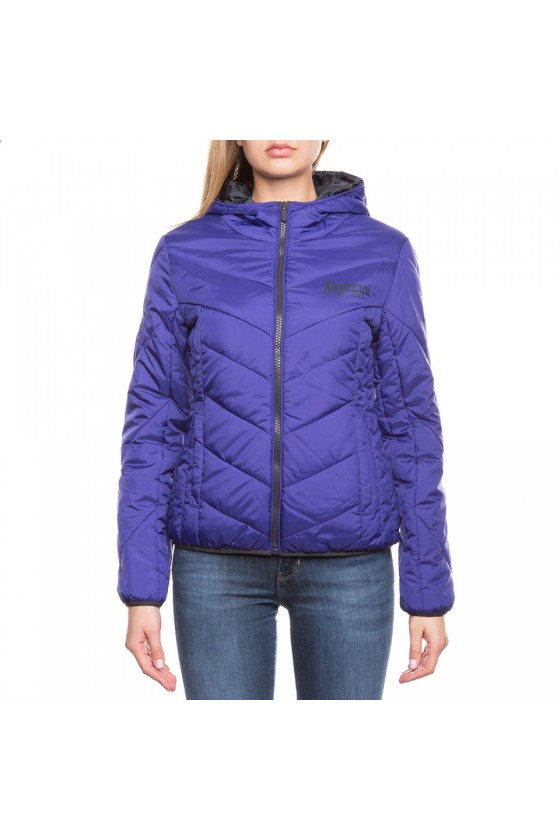 Жіноча куртка на замку фіолетова