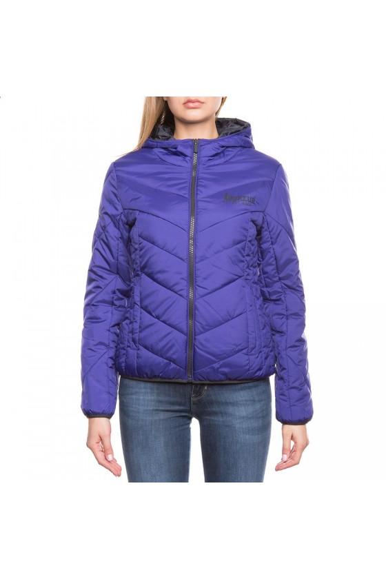 Женская куртка на замке фиолетовая