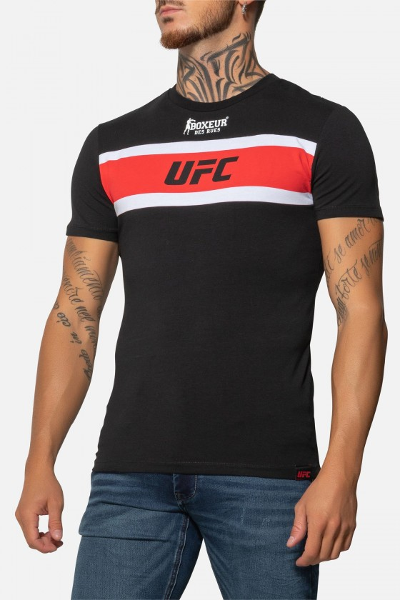 Футболка UFC с принтами черная