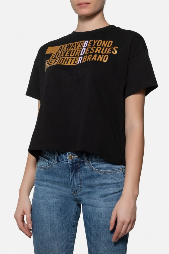 Женская футболка over fit с...