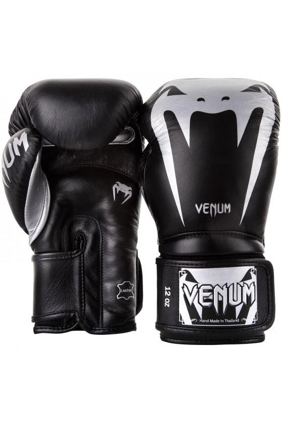 Боксерские перчатки Venum Giant 3.0 Black/Silver Nappa leather