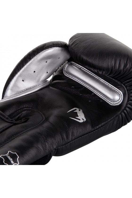 Боксерські рукавички Venum Giant 3.0 Black / Silver Nappa leather