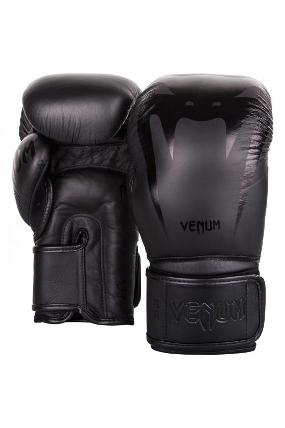 Боксерські рукавички Venum Giant 3.0 Black / Black - Nappa leather
