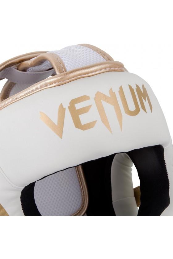 Боксерский шлем Venum Elite White/Gold
