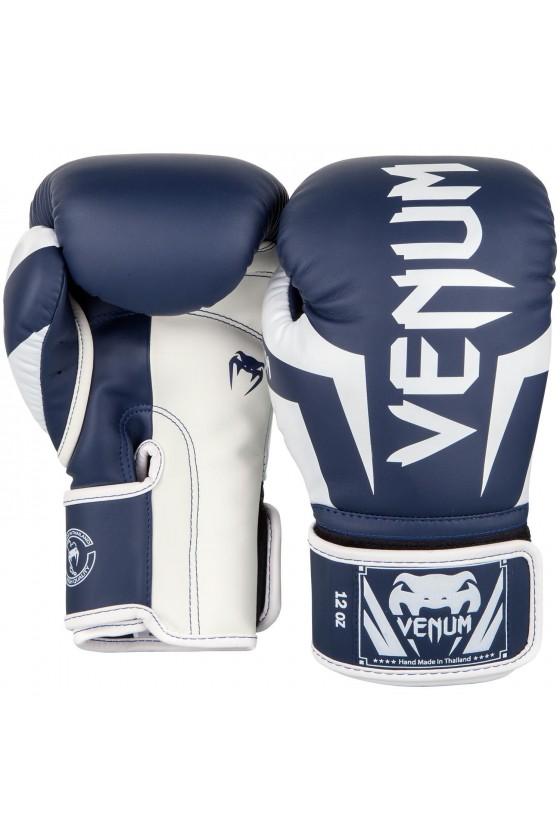 Боксерские перчатки Venum Elite Navy Blue/White